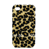 New Arrival Fashion Leopard Protective Back Cover Case For iPhone 4,4g,Free Shipping+ Track Number