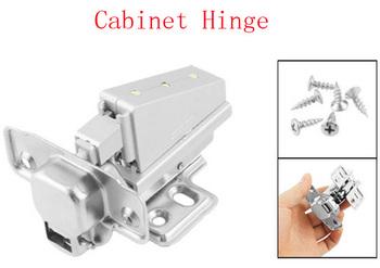 Furniture Hardware Buffer Metal Concealed Cabinet Hinge w 3 LEDs 2pcs