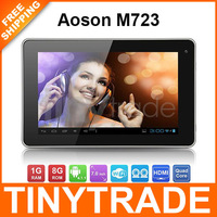 Free Swiss Post Aoson M723 ATM7029 Quad Core 7'' 1024*600 IPS Android 4.1 Tablet PC 1GB/8GB WIFI Bluetooth FM HDMI Dual Camera