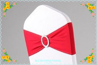 60  Red Lycra sash With Buckle For Wedding