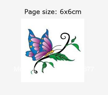 Customize Tatoo Sticker Temporary Sexy Women Butterfly Tattoo