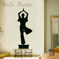 Free Shipping Yoginis wall stickers yoga dance glass decoration stickers p0251  Removeable  home Decor wall Decal
