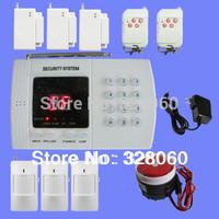 New Wireless 99-Zones Voice pir sensor Home Security Alarm System   PSTN Burglar  alarm