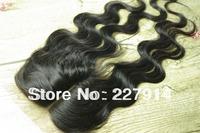 """Brazilian Virgin Top Lace Closure 4x4"""" side part  Body Wave 10-20"""" Unprocess Human Hair Piece Cheap Front Closure Bleached knots"""