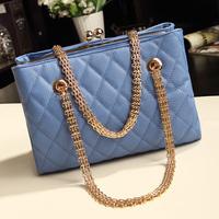 Quality 2013 plaid chain bag clip fashion women's handbag female bags fashion