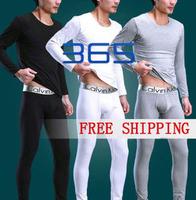 men's steel COTTON thermal underwear/doublet+johns/men's long johns/Winter bottoming shirt cotton suit