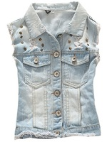 denim vests waistcoat denim vest new 2013 blue jeans vintage dress tops high street cardigans jacket motorcycle denin shorts