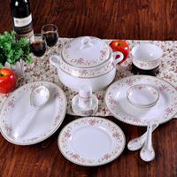 Quality ceramic 56 petals bone china dinnerware set