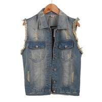 new 2013 big size sleeveless jacket plus size denim vest women womens vest casual dress waistcoat korean coats for women