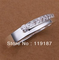 Lose money promotion! 925 silver ring, 925 silver fashion jewelry, inlaid stone Ring R232-8 Free Shipping