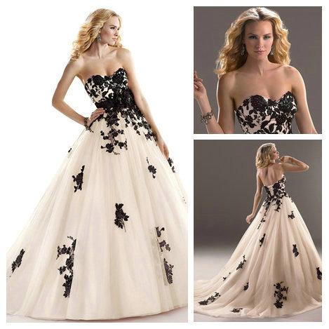 Great Black Corset Wedding Dress Yuiye Sexy Satin Lace With Handmade
