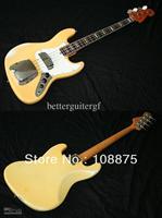 . Custom shop High quality Electric Guitar Jazz Bass, White100% Excellent Quality100% Excellent Quality
