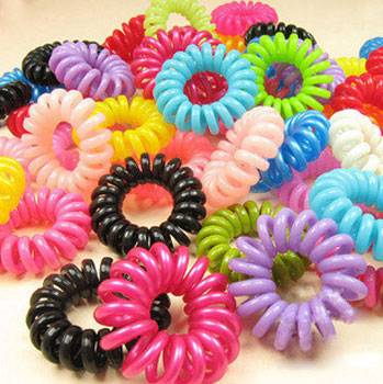 Hair accessory candy color telephone cord headband telephone ring tousheng hair rope hair accessories