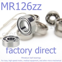 50pcs/lot high-quality goods model bearing MR126 Z MR126ZZ X6ZZ L-1260ZZ WBC6-12ZZA 6*12*4 mm helicopter model car available