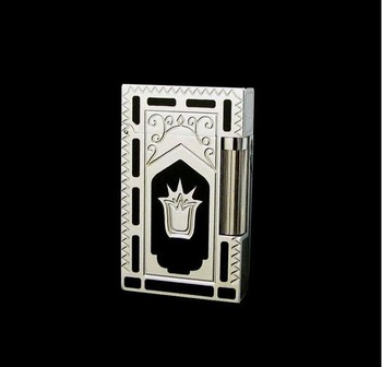 Authentic vintage S.T. DUPONT SILVER PLATED lighter WORK MADE IN FRANCE