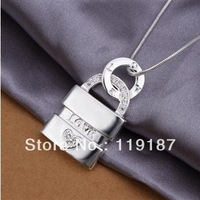 Free shipping wholesale new fashion jewelry, high quality real empty heart necklace silver necklace 925 PCN353