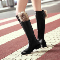 NEW waterproof motorcycle boots,women winter vintage flat  boots,round toe knee high boots with handsome riing boots US9