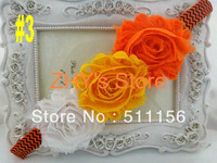 Free shipping 30pcs Cnady Cane Holloween Shabby Flower Elastic Headband for baby and children newborn toddler headband