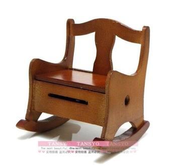 Philco yunsheng mechanism vintage wooden clockwork rocking chair music box wool chair music box birthday gift