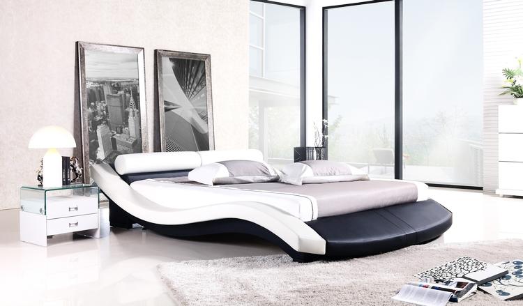 online kaufen gro handel k nig leder bett aus china k nig. Black Bedroom Furniture Sets. Home Design Ideas