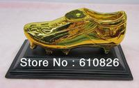 Free shipping football fans souvenir 2014 World Cup Golden Shoe Golden Boot top scorer trophy for Champions League Euro Ronaldo