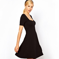 2013 Factroy Direct Sale Women's Sexy Slim Short Sleeve Soild Dress WQZ0180