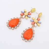 Min.order is $15(mix order) new fashion jeweley Alloy major suit Diamond Gemstone Stud Earrings