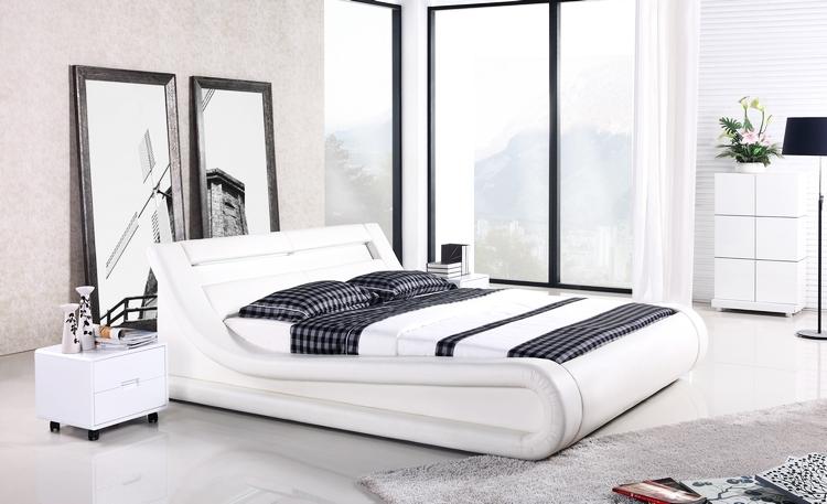 Design Slaapkamer Meubilair : Leer zacht bed, french design meubilair ...