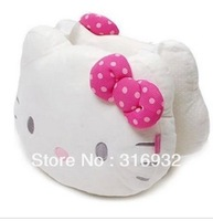U1 retail high quality cute hello kitty pillow car headrest auto neck pillow 1pc