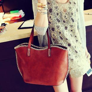2t1 2013 fashion vintage casual one shoulder handbag women's bags rope bucket women's bag(China (Mainland))