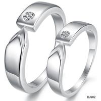 new arrival 2013 silver platinum rhinestone crystal lovers rings dj902 on sale