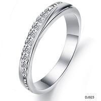 2014 2013 elegant  women anneau rhinestone silver ring bling bling ring dj923 wholesale price