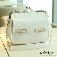 2013 women's handbag chain bag serpentine pattern bag lockbutton shoulder bag clip bags
