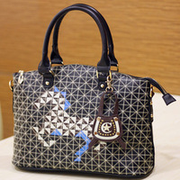 Fashion women's handbag 2013 casual bag messenger bag check  bags