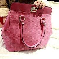 2013 new wome's Star style hot fashion plaid rose folding handbags the trend of female bags checkerboard palid women's bag