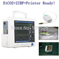 *ETCO2+2-IBP+Printer Ready* CMS7000 5 Multi-Parameter ICU Patient Monitor, ECG + NIBP +SPO2 + RESP +TEMP + ETCO2 +2IBP, Printer
