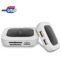 2 Ports USB 2.0 Hub   Multi Card Reader Combo Kit, Supports SD / MMC / MC / TF / M2 Card Reader