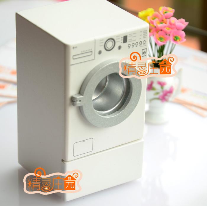 Casa de bonecas Dollhouse mini modelo mobiliário de lavar secadora máquina 2(China (Mainland))