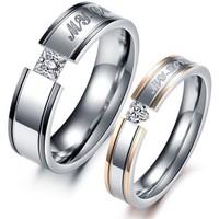 2014 acessorios moda romantic exquisite gift my love titanio aneis ring gj351 Os amantes do anel