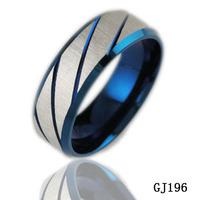 2014 titanium ring men's jewelry 2013 blue titanium ring gj196 personality  men's jewelry wholesale