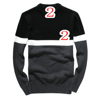 new 2013 free shipping promotion classic movement of male round neck sweaters hot sell  winter  warm men 's sweater big size