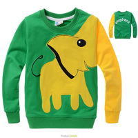 Wholesale 5pcs Spring Children's hoodies,baby boy cartoon gray elephant fashion outwear/hoody sweater/long sleeve top