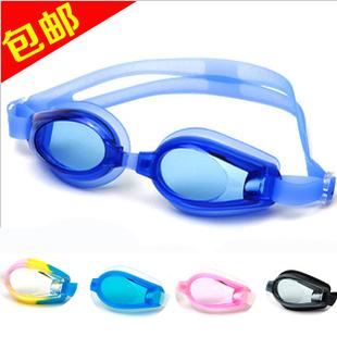Waterproof anti-fog large frame swimming glasses nose clip heatshrinked twinset submersible mirror goggles
