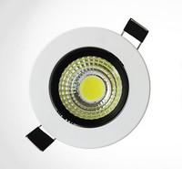 7w COB led downlight,AC85~265V,CE & ROHS,Cool white/Warm white, 7W COB led down lamp,free shipping