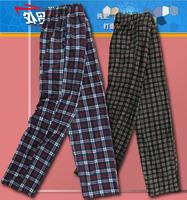 2013 Free Shipping New Arrival High quality Men fleece plaid fleece pants at home pajama pants ba1-p387