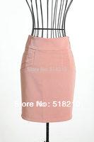 Free Shipping New Elegant Pink Fashion Slim Hips High Waist Office Ladies Career Skirt Plus Size Free Shipping