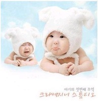 Double little lamb style cap baby hat baby hat