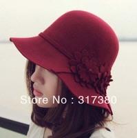 Wholesale 6pcs 2014 NEW Women Winter Wool Cloche Hats Fedora Hat Ladies Autumn Bowler Caps Womens Spring Felt Dome Cap Derby