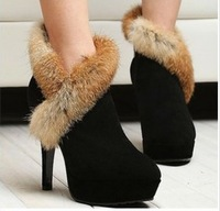 The new 2014 Autumn Winters Star Shoes Rabbit Hair And Aristocratic Luxury Fashion Since What is Short Boots And Shoes