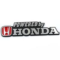 Free shipping 10pcs/lot High quality 3Dhonda power and sports car logo sticker Aluminum alloy Car Mental Sticker/3M back glue
